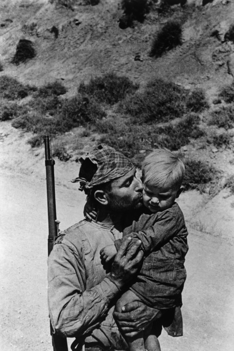 The Spanish Civil War. SPAIN. Region of Extramadura. 1936. Militiaman or Republican Army soldier.