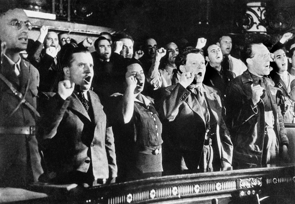 SPAIN. Spanish Civil War (1936/9) Valence. Juillet 1937.Deuxième congrès international des intellectuels antifascistes.