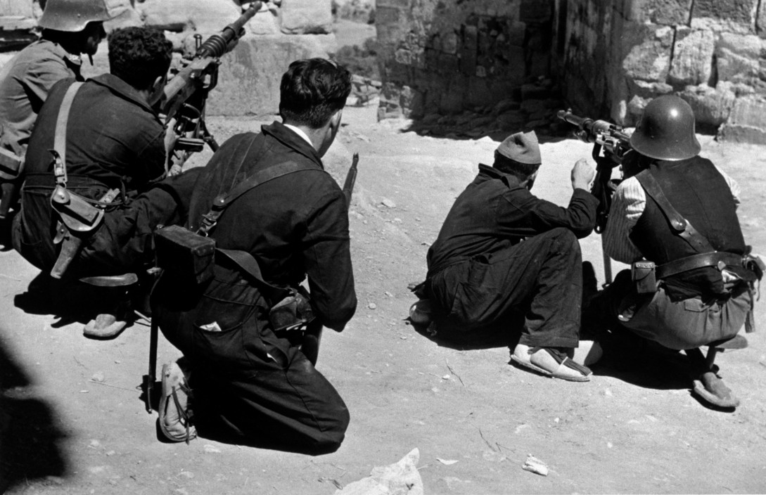 SPAIN. Spanish Civil War (1936-9) ICP 129Catalonia. Barcelona. August, 1936. Training for battle.