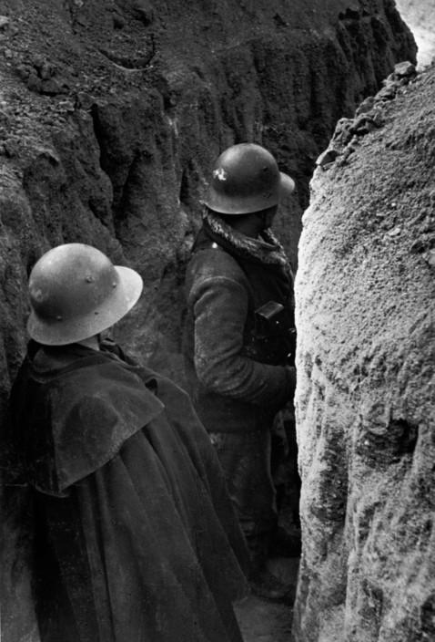 SPAIN. Spanish Civil War (1936/9) ICP 191Madrid. February, 1937. Republican fortifications around the University Hospital.