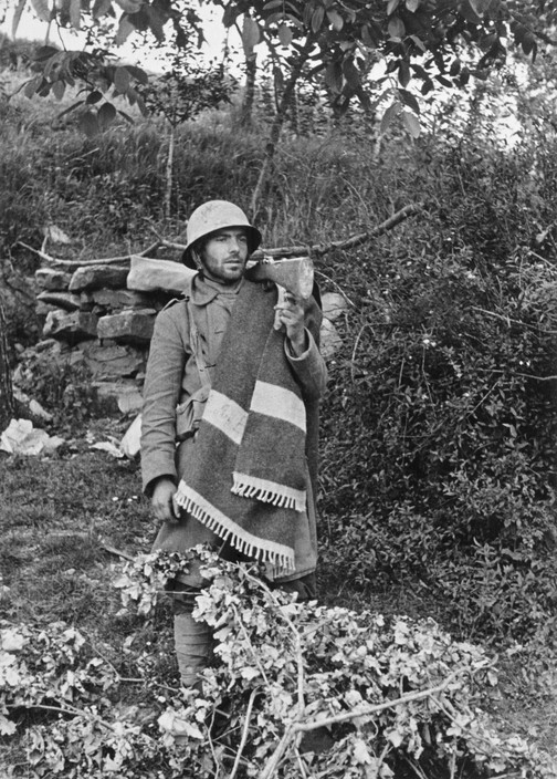 SPAIN. Spanish Civil War (1936/9) ICO 224Bilbao front. Basque region. May, 1937. Loyalist soldier during the battle of Mount Solluve.