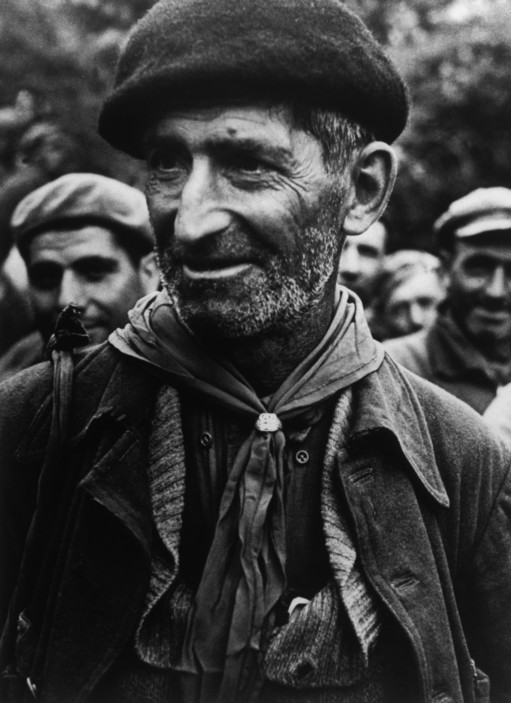 SPAIN. Spanish Civil War (1936-9) Montblanch. Near Barcelona. October 25th, 1938. The Spanish Civil War broke out in 1936, when part of the Spanish army rebelled against the Second Republic, a democratic government elected in 1931. It gained international dimensions when Fascist Germany and Italy began supporting the military uprising, led by General Franco, with weapons and soldiers. The USSR helped the Republic, and a significant contingent of volunteers joined the International Brigades and fought for the Republic. The conflict became the symbol of a larger conflict between Fascists and Communists. The war ended in 1939 with Franco's victory over the Republicans.  Bidding farewell to the International Brigades, which were dismissed by the Republican government, as a consequence of Stalin's friendship with Germany.
