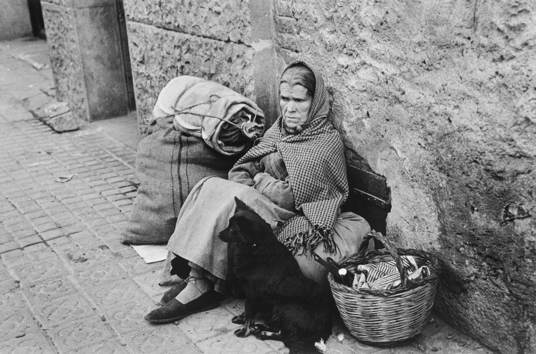 SPAIN. Spanish Civil War (1936-9)  ICP 292 Barcelona. January, 1939. At a refugee transit center during the evacuation of the city, which was heavily bombed by fascist planes, as General Franco's fascist troops rapidly approached.