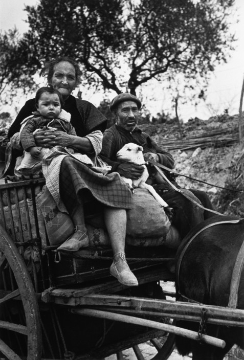 Spanish Republicans during Spanish Civil War (1936-39). icp 295 SPAIN. On the road from Tarragona to Barcelona. January 15th, 1939. People from Tarragona seeking refuge in Barcelona, before the evacuation of the city. Many of them were killed or lost their belongings during fascist air raids.