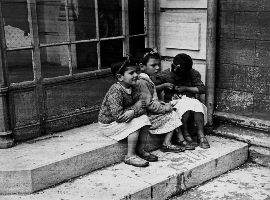 "FRANCE. Spanish Civil War refugees.  ICP 315 France. Near Biarritz. May, 1939. Orphans of the Spanish Civil War under the care of the ""Foster Parents' Plan for Spanish Children"", which was largely financed by the United States."