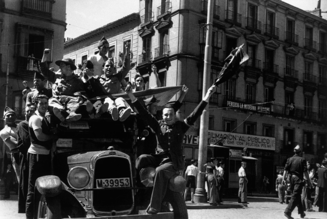 SPAIN. Spanish Civil War (1936-9).  Madrid. August/September, 1936.   The Spanish Civil War broke out in 1936, when part of the Spanish army rebelled against the Second Republic, a democratic government elected in 1931. It gained international dimensions when Fascist Germany and Italy began supporting the military uprising, led by General Franco, with weapons and soldiers. The USSR helped the Republic, and a significant contingent of volunteers joined the International Brigades and fought for the Republic. The conflict became the symbol of a larger conflict between Fascists and Communists. The war ended in 1939 with Franco's victory over the Republicans.