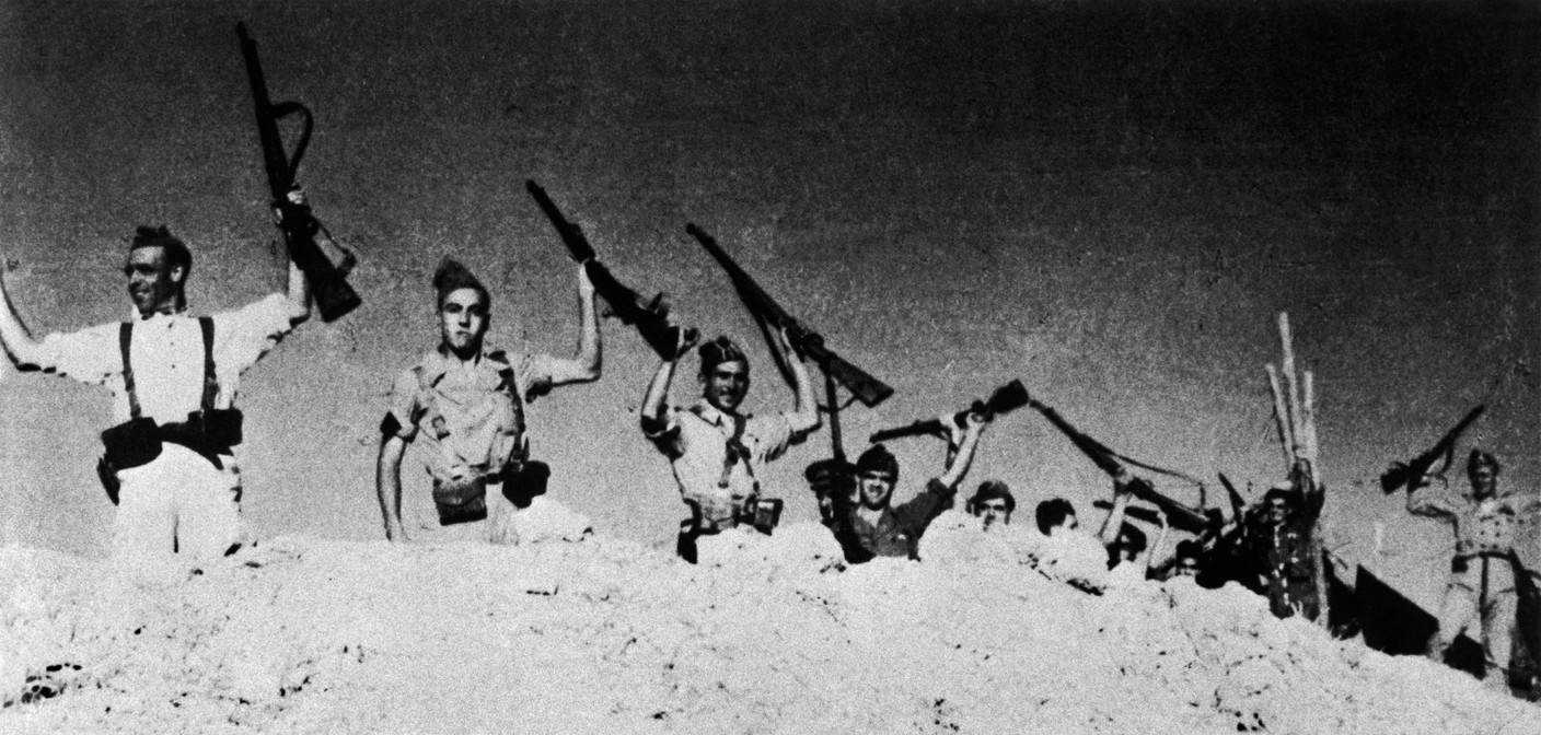 SPAIN. Spanish Civil War (1936-9) SPAIN. Andalucia. Cerro Muriano. Cordoba front. Republican soldiers. September 5th, 1936.