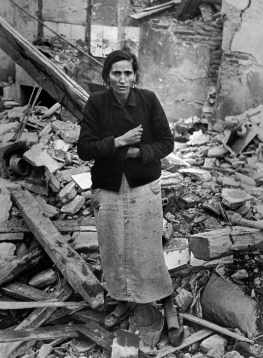 1936 SPAIN. Spanish Civil War (1936-9) Madrid. Winter, 1936/1937. After an Italo-German air-raid. The Nationalist offensive on Madrid, which lasted from Nov. 1936 to Feb. 1937, was one of the fiercest of the Civil War. During this period Italy and Germany started helping the