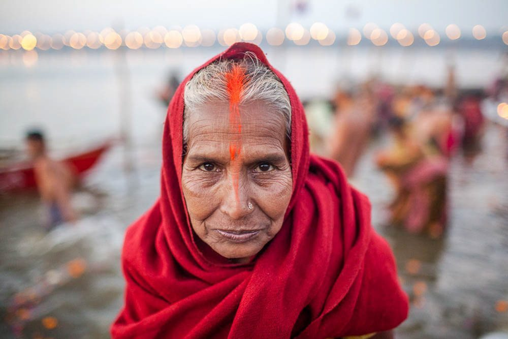 Images of Worship Sites Along the Ganges