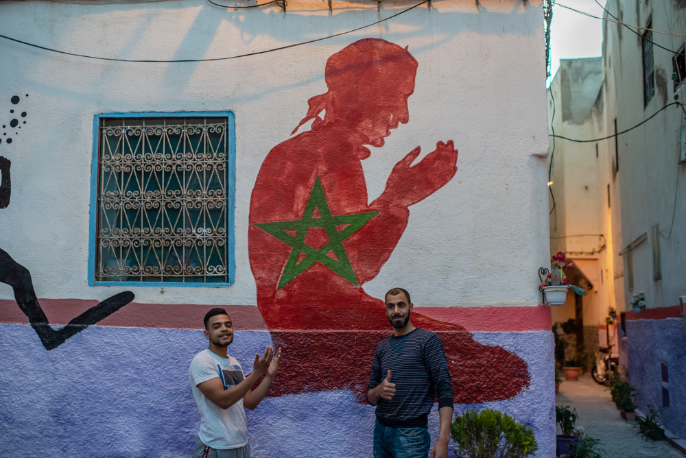 Ramadan Cleaning the Moroccan Way :  Alley Painters of New Fez